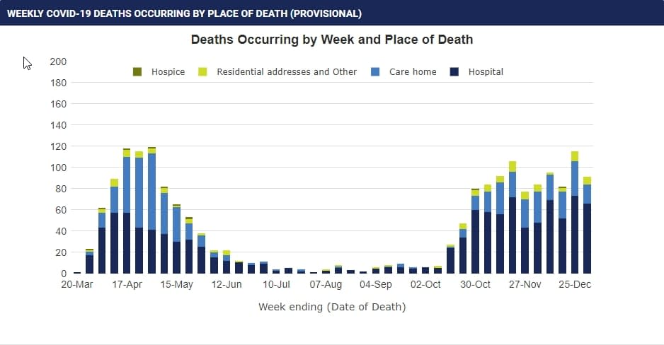 WEEKLY COVID-19 DEATHS OCCURRING BY PLACE OF DEATH (PROVISIONAL)